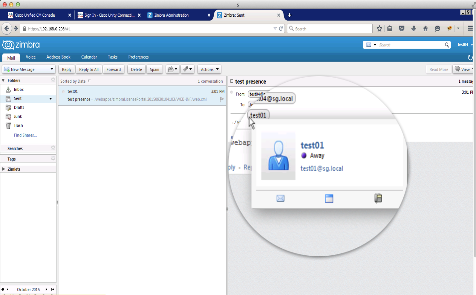 Integrated Unified Communications - Zimbra Email