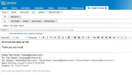Zimbra Collaboration - Email