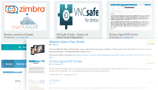 Zimbra Collaboration - Zimlets